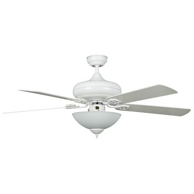 52 Valore Quick Connect 5-Blade Ceiling Fan Motor Finish: White, Blade Finish: White
