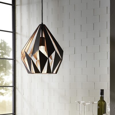 San Marino 1-Light Mini Pendant Inner Shade Color: Copper