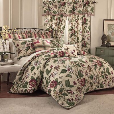Laurel Springs 4 Piece Reversible Comforter Set Size: Queen