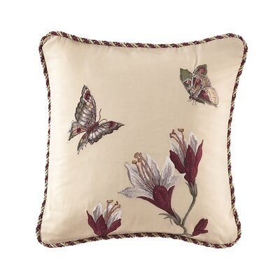 Laurel Springs Embroidered Throw Pillow