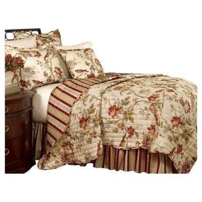 Charleston Chirp Cotton 2 Piece Reversible Quilt Set Size: King