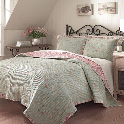 Garden Glitz 3 Piece Reversible Comforter Set Size: King