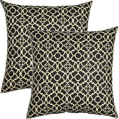 Lovely Lattice Cotton Throw Pillow