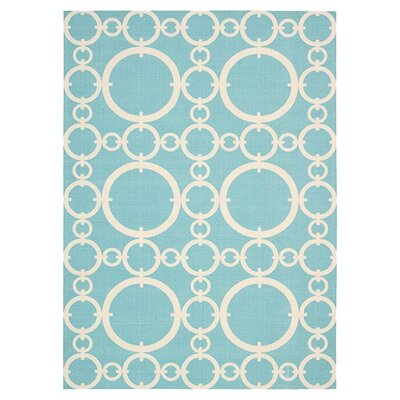 Sun n Shade Connected Aqua Indoor/Outdoor Area Rug Rug Size: Rectangle 79 x 1010