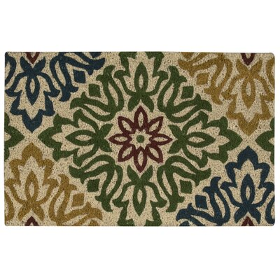 Greetings Sweet Things Doormat Rug Size: Rectangle 2 x 3, Color: Green/Yellow