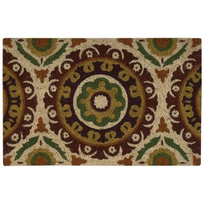Greetings Solar Flair Doormat Rug Size: 2 x 3, Color: Rust
