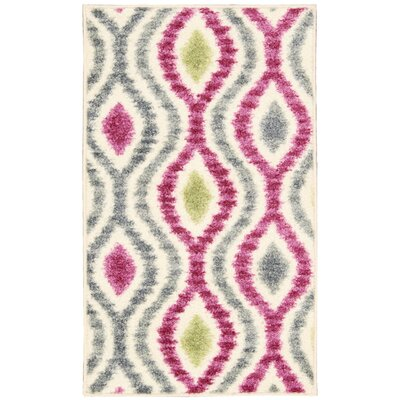 Aura of Flora Optical Delights Jazzberry/Gray Area Rug