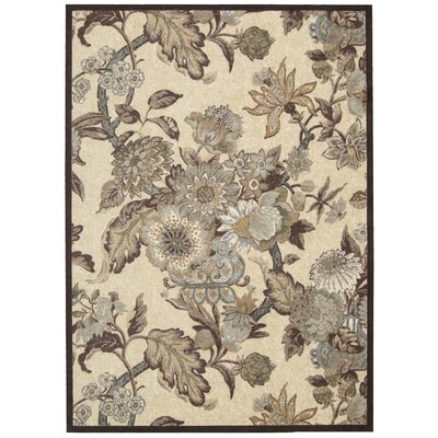 Artisinal Delight Graceful Garden Birch Area Rug Rug Size: Rectangle 5 x 7