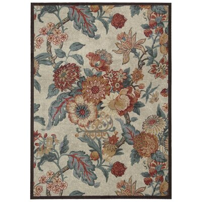 Artisinal Delight Graceful Garden Blue/Brown/Beige Area Rug Rug Size: 4 x 6