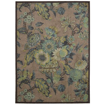 Artisinal Delight Graceful Garden Blue/Gray Area Rug Rug Size: Rectangle 8 x 10