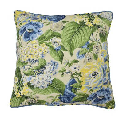 Floral Flourish Cotton Throw Pillow