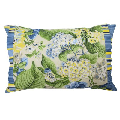 Floral Flourish Cotton Lumbar Pillow