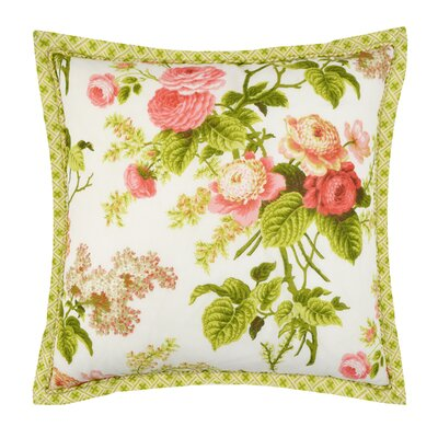 Emmas Garden Cotton Throw Pillow