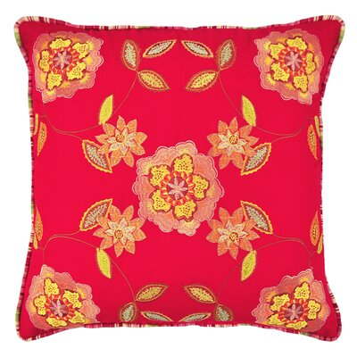 Charismatic Embroidered Cotton Throw Pillow