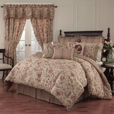 Imperial Dress 4 Piece Reversible Comforter Set Size: King
