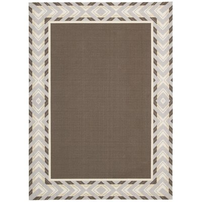 Sun n Shade Full of Zip Espresso Indoor/Outdoor Area Rug Rug Size: Rectangle 79 x 1010