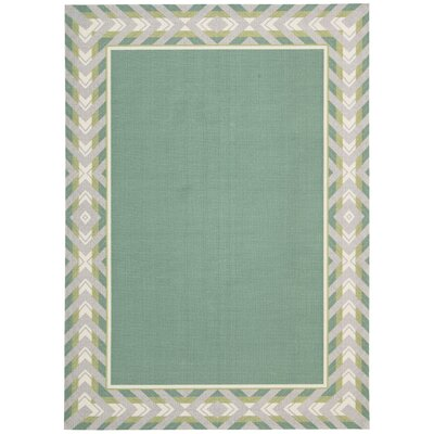 Sun n Shade Full of Zip Green Indoor/Outdoor Area Rug Rug Size: Rectangle 10 x 13