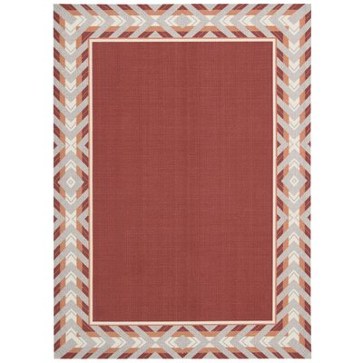 Sun n Shade Full of Zip Red Indoor/Outdoor Area Rug Rug Size: 10 x 13