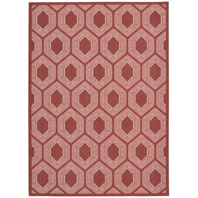 Sun n Shade Bubbly Poppy Indoor/Outdoor Area Rug Rug Size: 79 x 1010