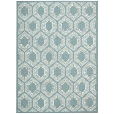 Sun n Shade Bubbly Surf Indoor/Outdoor Area Rug Rug Size: Rectangle 53 x 75