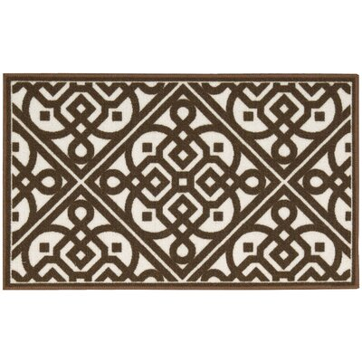 Fancy Free & Easy Lace It Up Brown Area Rug Rug Size: Rectangle 26 x 4