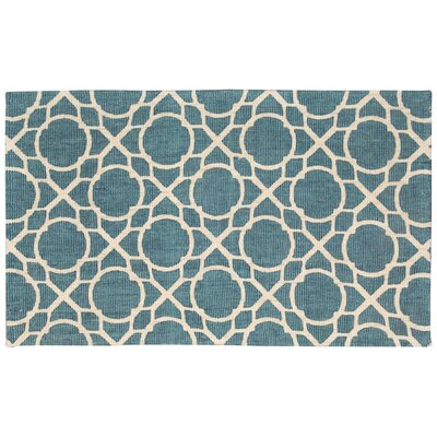 Color Motion Perfect Fit Hand-Woven Teal Area Rug Rug Size: 23 x 39