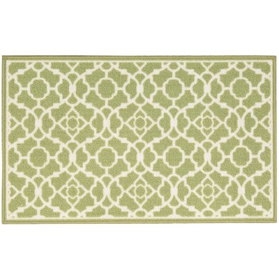 Fancy Free & Easy Lovely Lattice Green Area Rug Rug Size: Rectangle 16 x 26