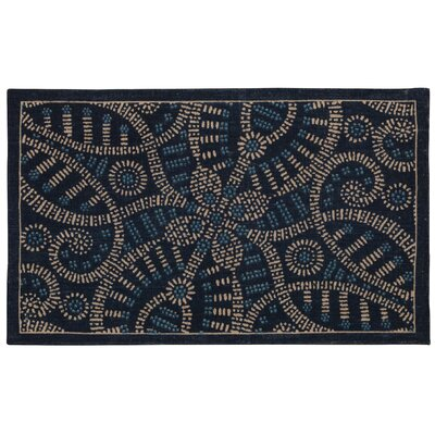 Color Motion Belle of the Ball Blue/black Area Rug Rug Size: Rectangle 23 x 39