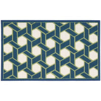 Fancy Free & Easy Shoji Blue/Beige Area Rug