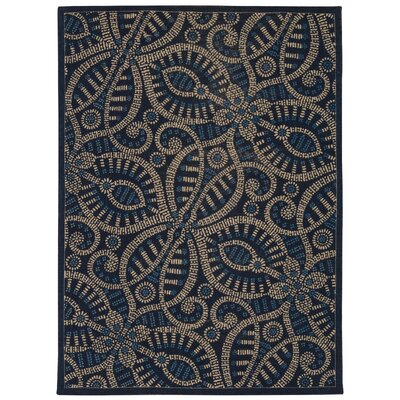 Color Motion Belle of the Ball Blue/black Area Rug Rug Size: Rectangle 5 x 7