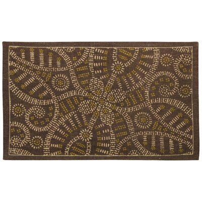 Color Motion Belle of the Ball Brown Area Rug Rug Size: 23 x 39