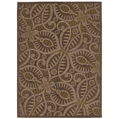 Color Motion Belle of the Ball Brown Area Rug Rug Size: 5 x 7
