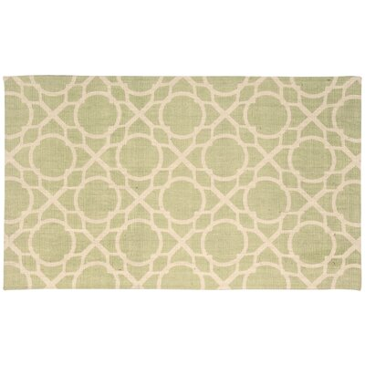 Color Motion Perfect Fit Hand-Woven Green Area Rug