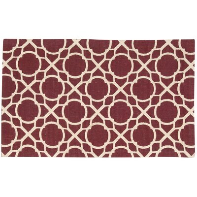 Color Motion Perfect Fit Hand-Woven Red Area Rug