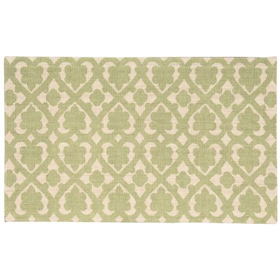 Color Motion Soul Mate Hand-Woven Green Area Rug