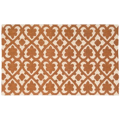 Color Motion Soul Mate Hand-Woven Orange Area Rug