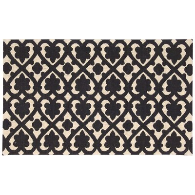 Color Motion Soul Mate Hand-Woven Black Area Rug