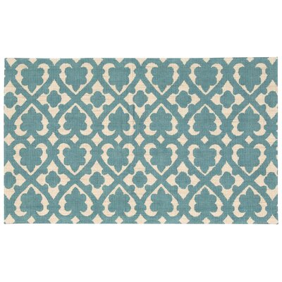 Color Motion Soul Mate Hand-WovenTeal Area Rug