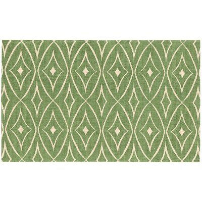 Color Motion Centro Hand-Woven Green Area Rug