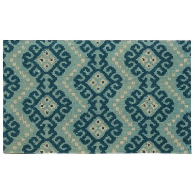 Color Motion Kurta Ember Prussian Area Rug Rug Size: 23 x 39