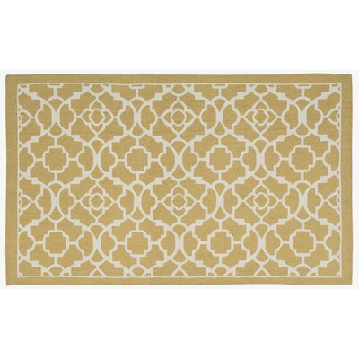 Art House Lovely Lattice Hand-Woven Gold Area Rug Rug Size: Rectangle 24 x 38