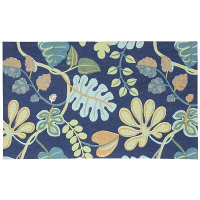 Art House A New Leaf Hand Woven Blue/Green Area Rug