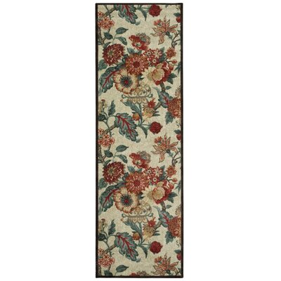 Artisinal Delight Graceful Garden Blue/Brown/Beige Area Rug Rug Size: Runner 26 x 8