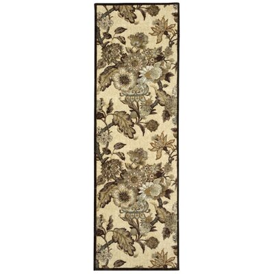 Artisinal Delight Graceful Garden Birch Area Rug Rug Size: Runner 26 x 8