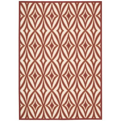 Sun n Shade Centro Red Indoor/Outdoor Area Rug Rug Size: 53 x 75