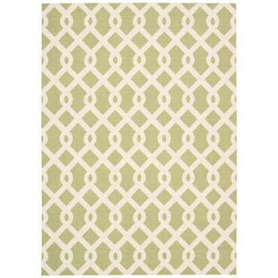 Sun n Shade Ellis Green Indoor/Outdoor Area Rug Rug Size: 53 x 75