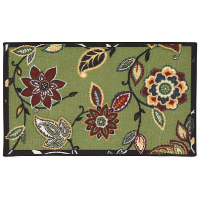 Fancy Free & Easy Lively Trail Green/Brown Area Rug Rug Size: Rectangle 26 x 4