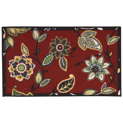 Fancy Free & Easy Lively Trail Green/Red Area Rug Rug Size: Rectangle 26 x 4