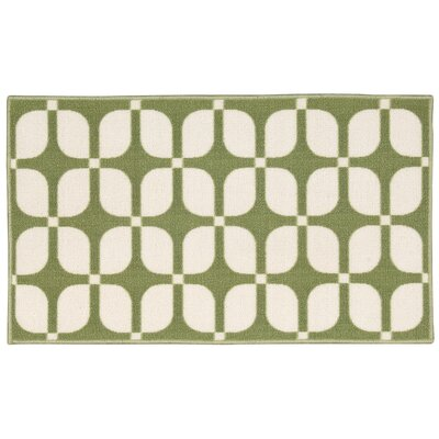 Fancy Free & Easy Unparalleled Green/Ivory Area Rug Rug Size: 18 x 210