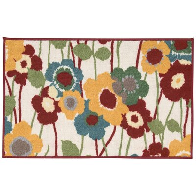 Fancy Free & Easy Pic-A-Poppy Beige/Brown/Orange Area Rug Rug Size: Rectangle 26 x 4